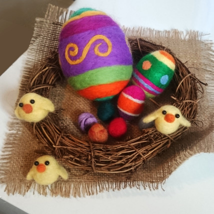 Needle Felted Easter Critters