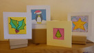 Silk Painted Christmas Cards