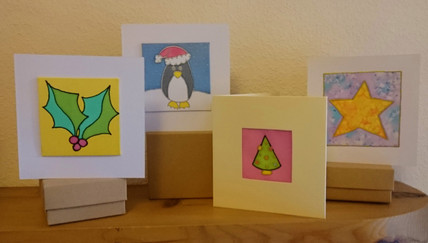 Silk Painted Christmas Cards