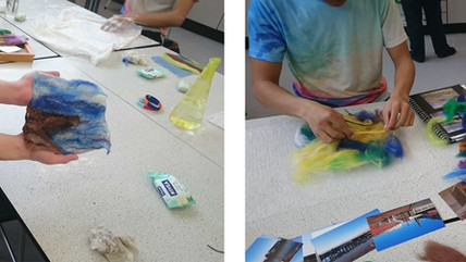 Felt making workshop with Bridlington Secondary School