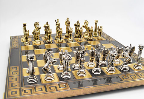 Icarus Chess Set - Meander Brown Oxidation Board