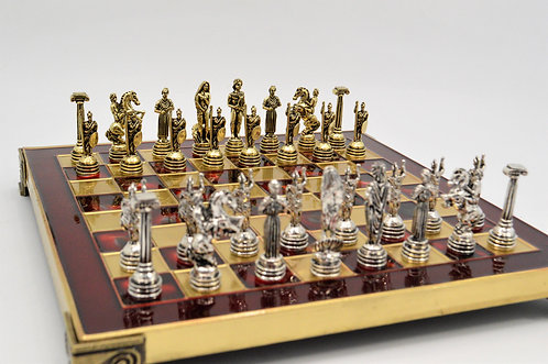 Athena Chess Set - Classic Red Board