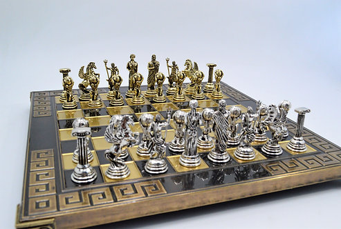 Atlas Chess Set - Meander Brown Oxidation Board