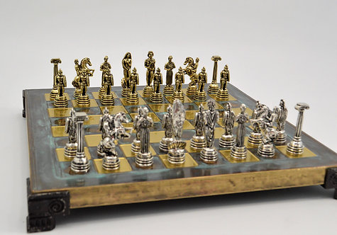 Hoplite Chess Set - Classic Green Oxidation Board
