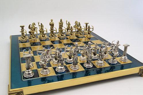 Archers Chess Set - Classic Blue Board