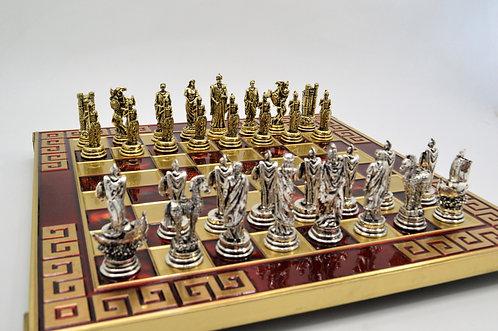 Trojan War Chess Set - Meander Red Board