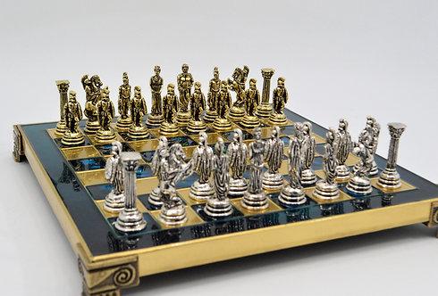 Trojan War Chess Set - Classic Blue Board
