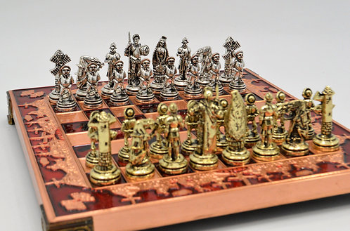 Don Quixote Chess Set - Red Board