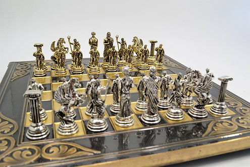 Hercules Chess Set - Flower Brown Oxidation Board
