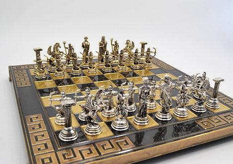 Archers Chess Set - Meander Brown Oxidation Board