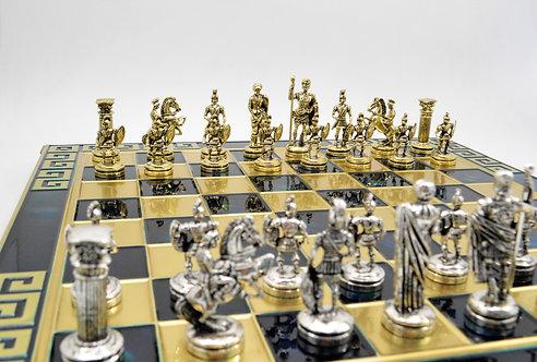 Roman Empire Chess Set- Blue Board
