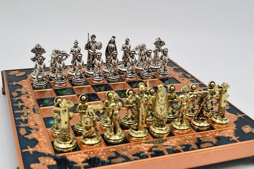 Don Quixote Chess Set - Blue Board