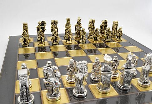 Pharaoh Chess Set - Classic Brown Oxidation Board
