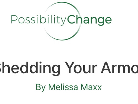 """Quoted:Guest Post on the """"Possibility Change"""" Blog, """"Shedding Your Armor""""."""