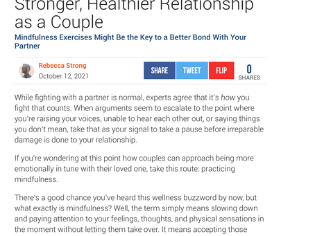 QUOTED:Melissa Maxx in askmen.com On Using Mindfulness Skills In Romantic Relationships.