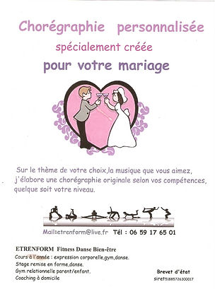 Coordonnées Chorégraphie de mariage