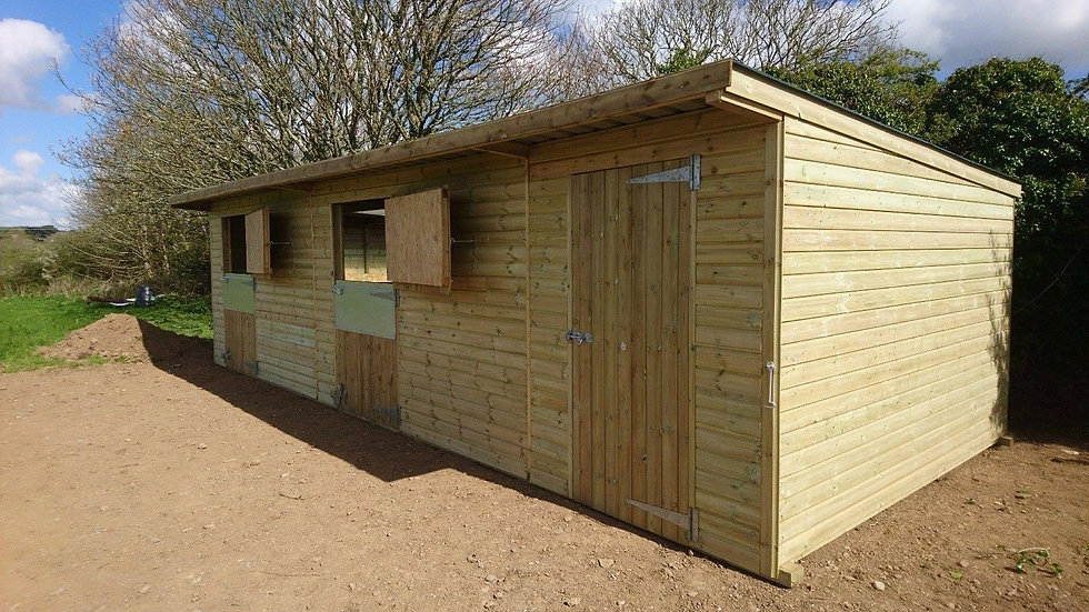 2 Stables and Tackroom 'Pent' roof
