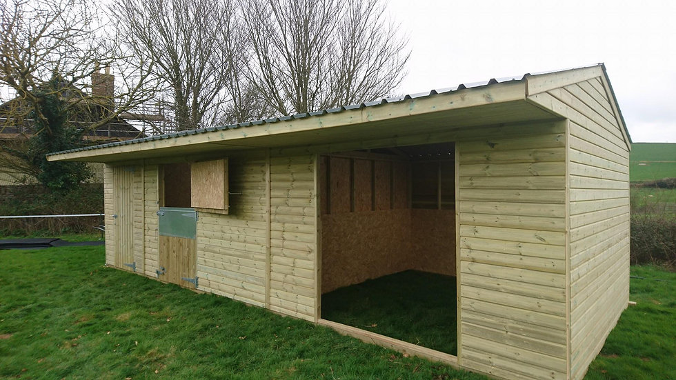 Exmoor Shelter, Stable and Tackroom Combination