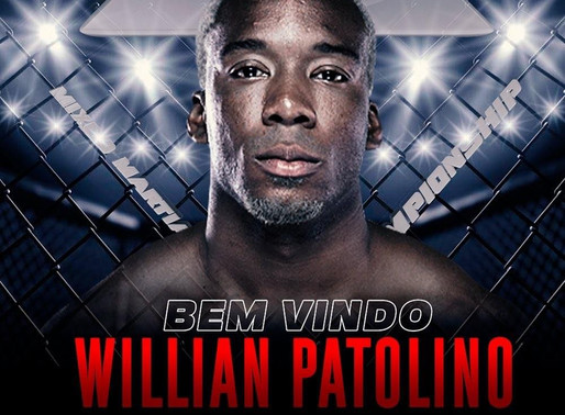 WILLIAM PATOLINO ASSINA COM TAURA MMA