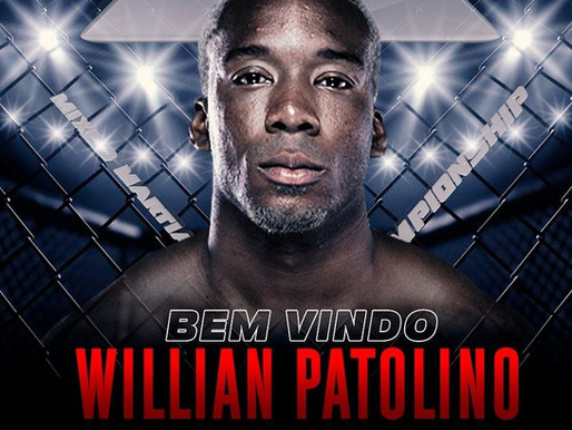 WILLIAM PATOLINO ASSINA COM TAURA MMA