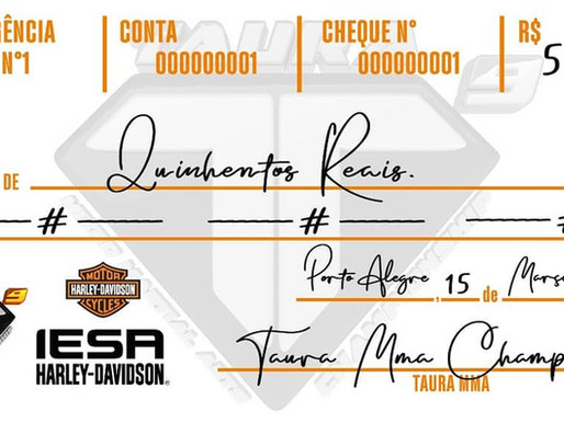 IESA Harley Davidson inicia uma parceria com Taura MMA