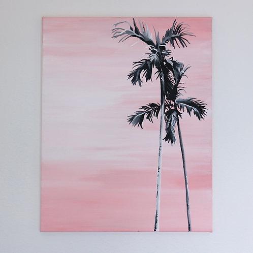 Pink Palm - Original