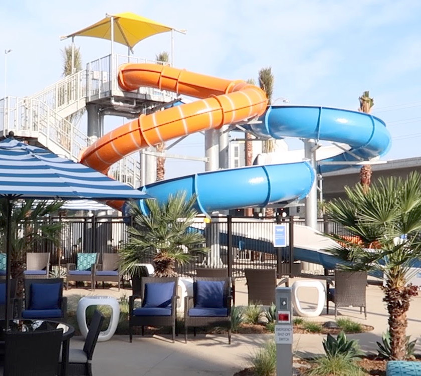 Waterslides at Cambria Anaheim