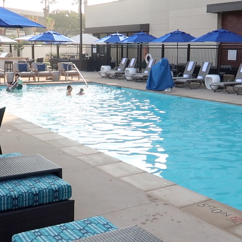 Pool area at Cambria Anaheim