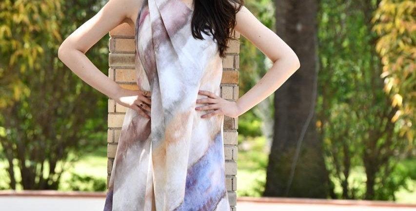 Linen Tie Dye Dress