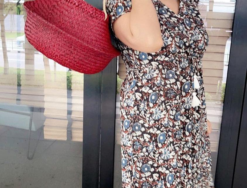 Maxi lekha hand block print dress