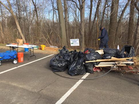 Cleanup of Poquessing floodplain near Philadelphia (aka Franklin) Mills Mall.