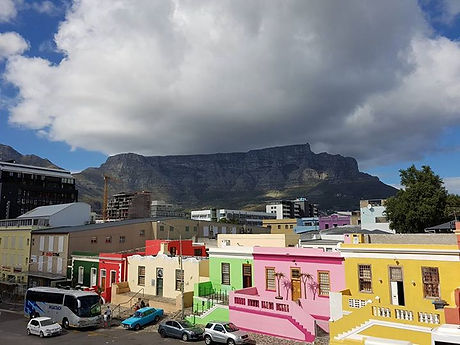 Table Mountain with Bo Kaap in the foreground