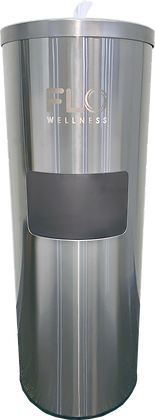 Stainless Steel Wipes Dispenser with Removable Trash Bin