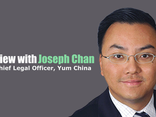 Interview With Joseph Chan, Group Chief Legal Officer, Yum China.
