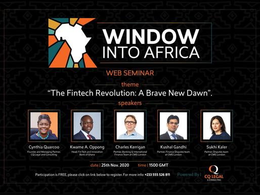 The Fintech Revolution - Window Into Africa Webinar Series on Financial Technology.