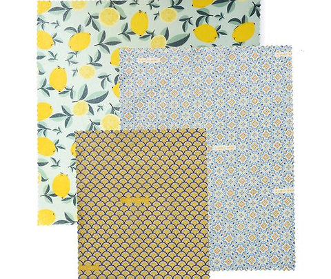 """LilyBee Beeswax Wraps 3-Pack """"Sicilian Citrus"""""""