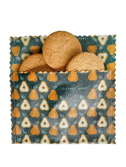 """LilyBee Beeswax Wraps Snack Bag """"Sweet Pears"""""""