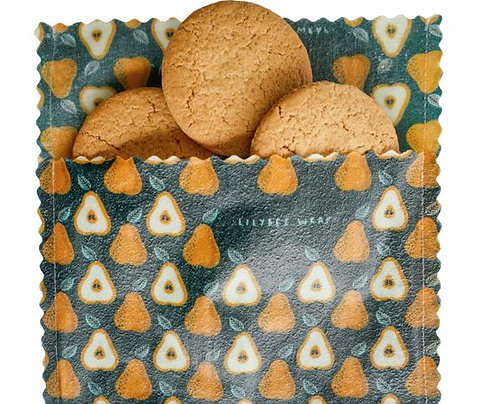 "LilyBee Beeswax Wraps Snack Bag ""Sweet Pears"""