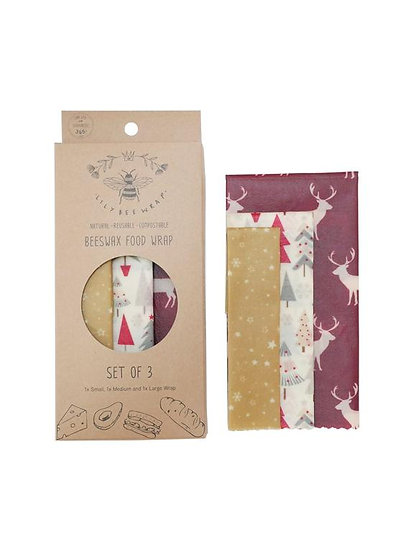 "LilyBee Beeswax Wraps 3-Pack ""Christmas In The Rockies"""