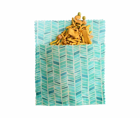 "LilyBee Beeswax Wraps Large Sandwich Bag ""Pelagos"""
