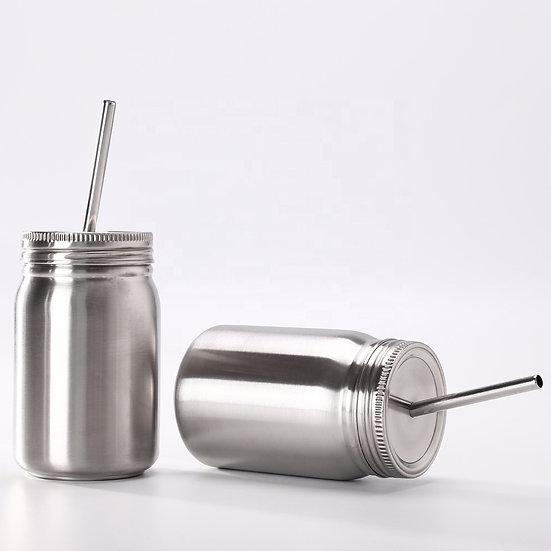 Premium Stainless Steel Insulated Mason Jar Cup
