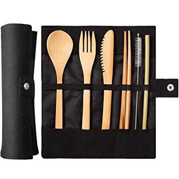 Bamboo Portable Utensil Set