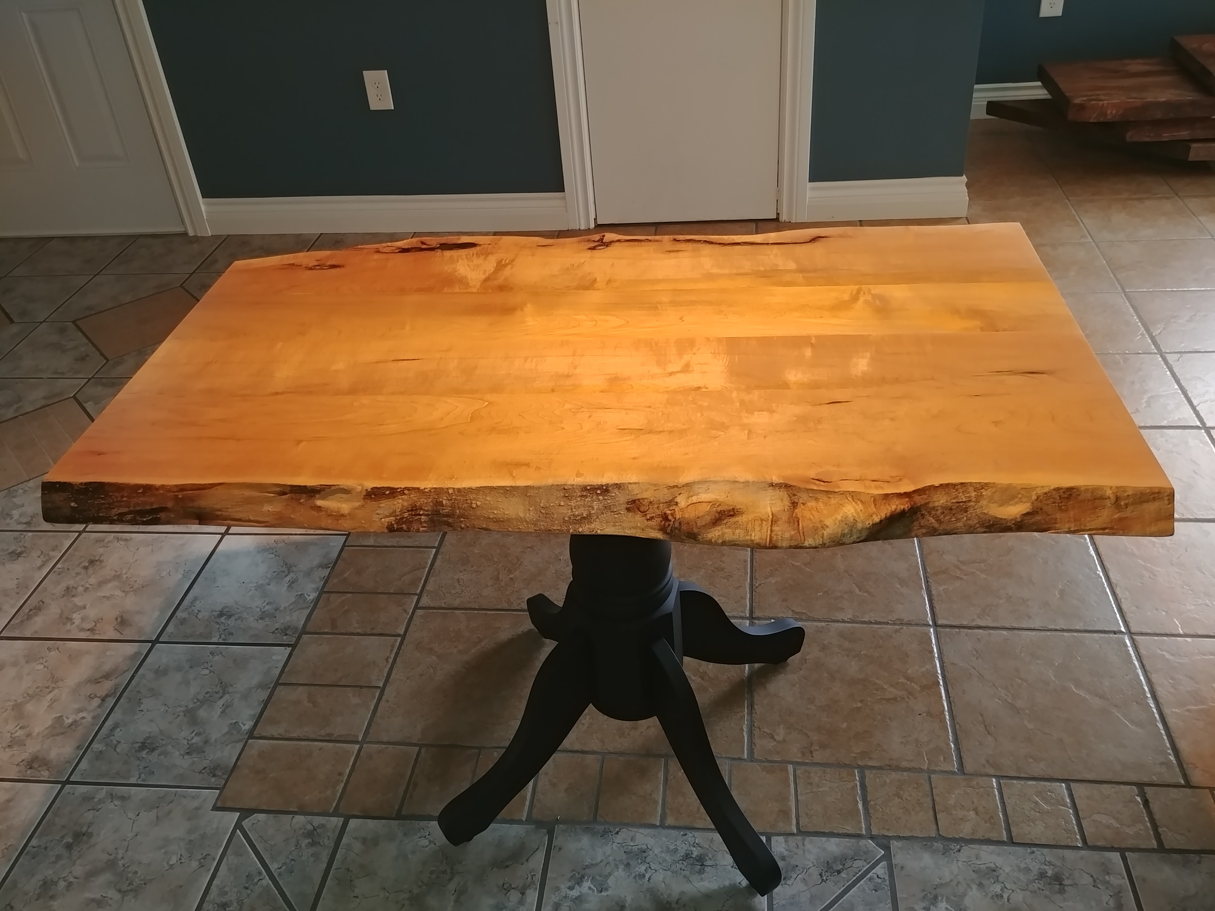 Live Edge Rock Maple kitchen table/coffee table top - 27in x ...