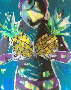 Woman with Pineapples