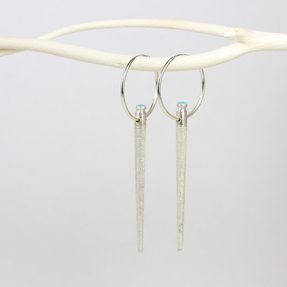 Turquoise Urchin Hoops