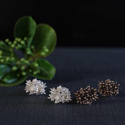 Flower Bud Cluster Earrings