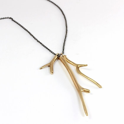 Triple Branch Long Necklace