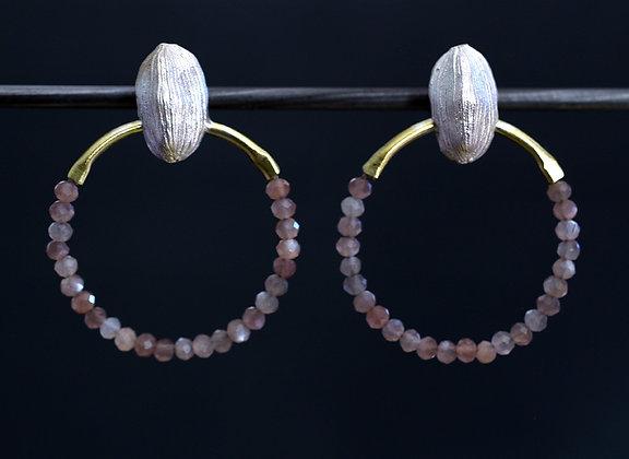Cardamon & Chocolate Moonstone Earrings