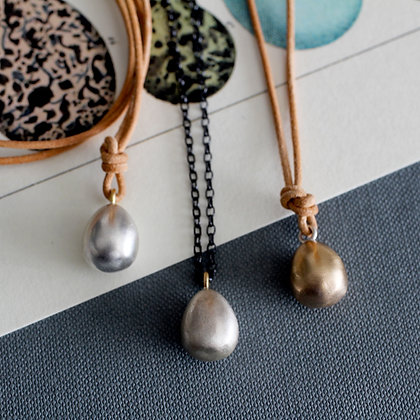 Goldfinch Egg Long Necklace