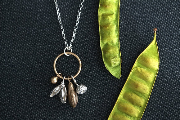Mixed Seed Pod Necklace